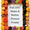 Easy Fall Craft: Create a Button Frame
