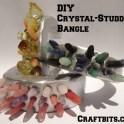 DIY Crystal Gem Stone-Studded Bangle