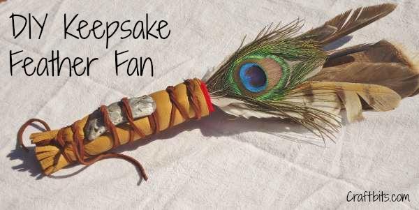 How To Make A Keepsake Feather Fan