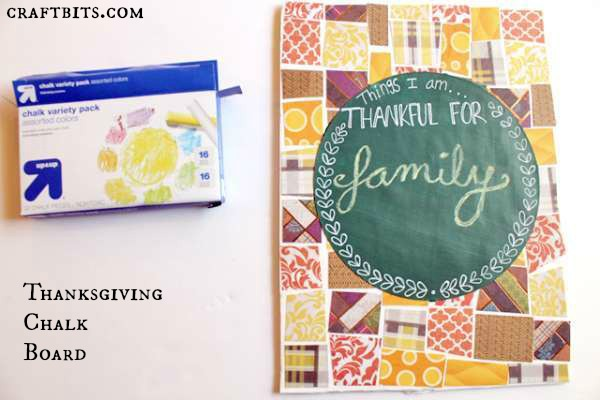 Thanksgiving Chalk Board