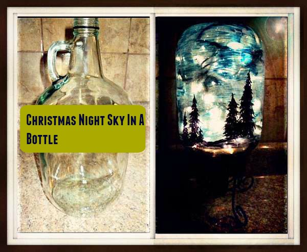 Christmas Night Sky on a Bottle