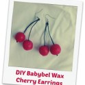 Earrings - Babybel Cherries