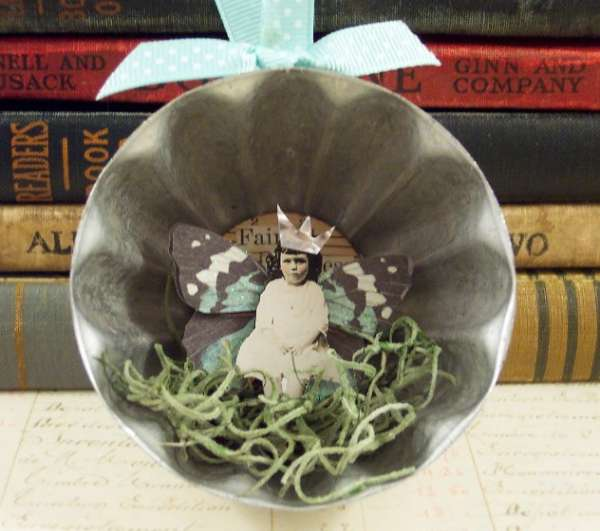 Winter Fairy Jello Mold Ornament