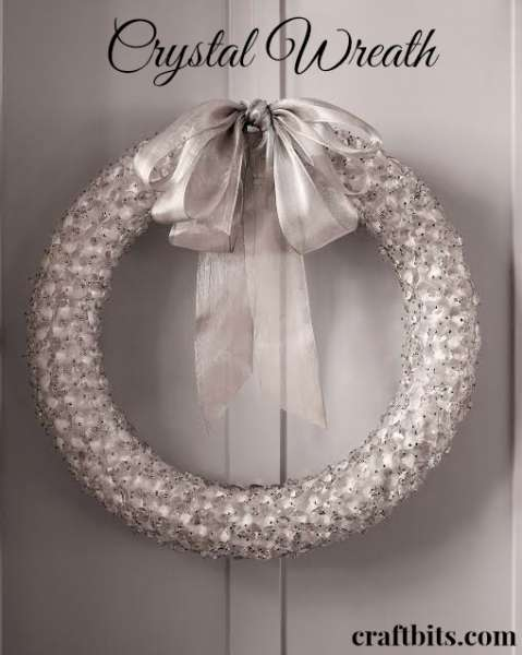 DIY Crystal Wreath