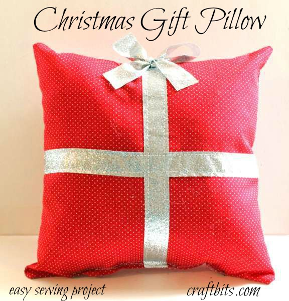 Christmas Gift Pillow – Easy Sewing Project