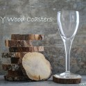 DIY Wood Coasters for Cordials