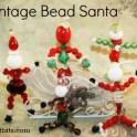 Vintage Bead Santa