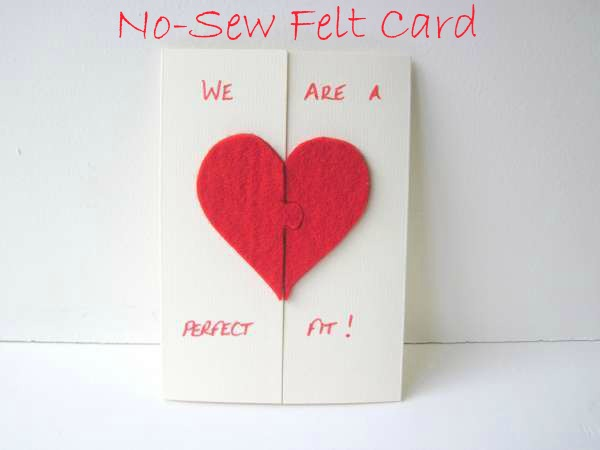 No Sew Felt Valentine's Day Card