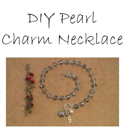 DIY Pearl Charm Necklace