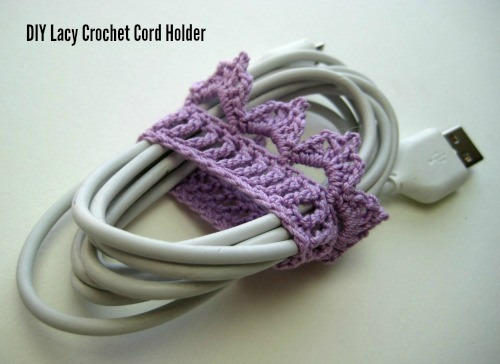 Lacy Crochet Cord Holders