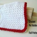 Crochet Potholder With Lace Trim