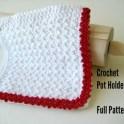 Crochet Potholder With Lace Trim
