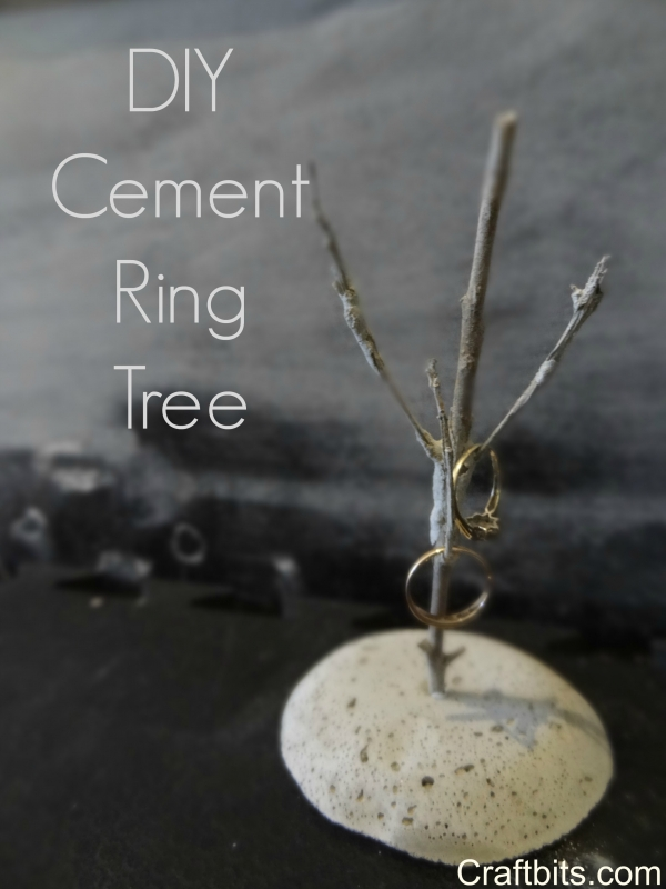Cement Tree Ring Organizer