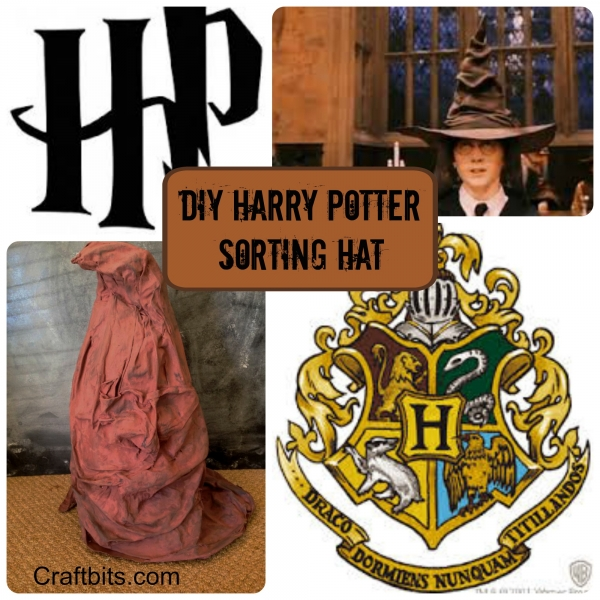 Make the harry potter sorting hat at home kids crafts craftbits