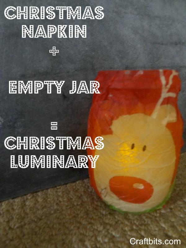 Christmas Luminary Mason Jar Idea