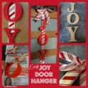 DIY Christmas Door Art - JOY