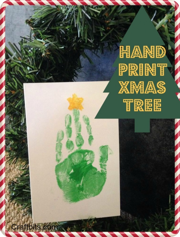 Hand Print – Christmas Tree Card