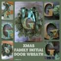Christmas Wreath Yarn Wrapped Initial