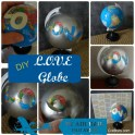 Up-cycled Globe - LOVE Art
