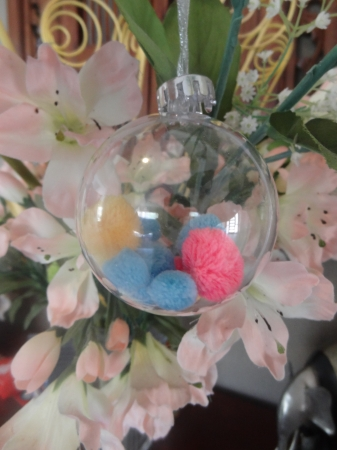 Tree Ornament – Pom Pom Bauble