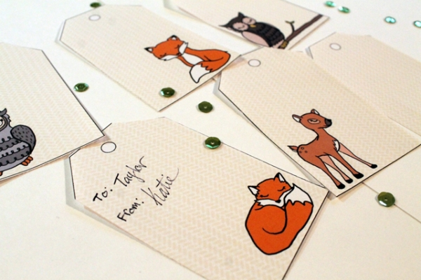 Printable Forest Friends Christmas Gift Tags