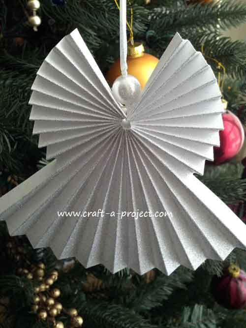 How To Make Christmas Tree Ornaments Out Of Construction Paper : Paper christmas angel ornament crafts