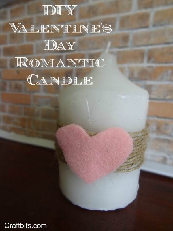 Valentine's Day Romantic Candle