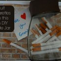 Quit Smoking Idea: Inspirational Quote Jar