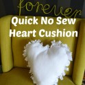 Valentine's Day No Sew Heart Pillow