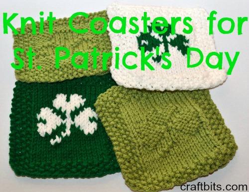 St. Patrick's Day Knit Coasters