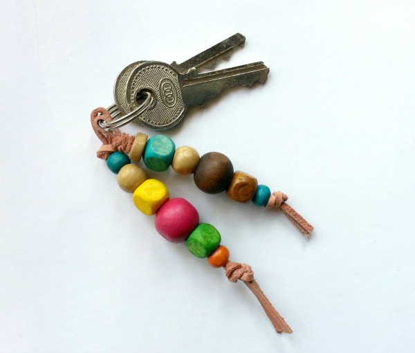diy colorful wooden beaded keyrings bead crafts