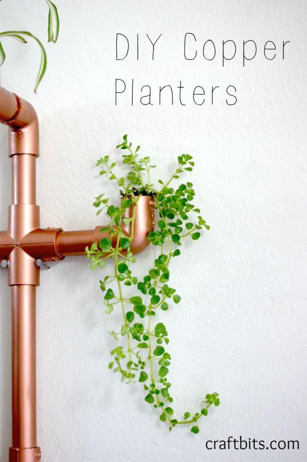 DIY Copper PVC Wall Planter - Home Crafts - craftbits.com