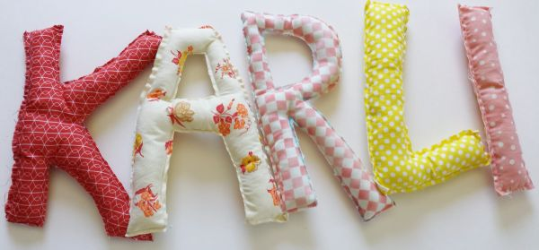 Plush Letter Pillows DIY