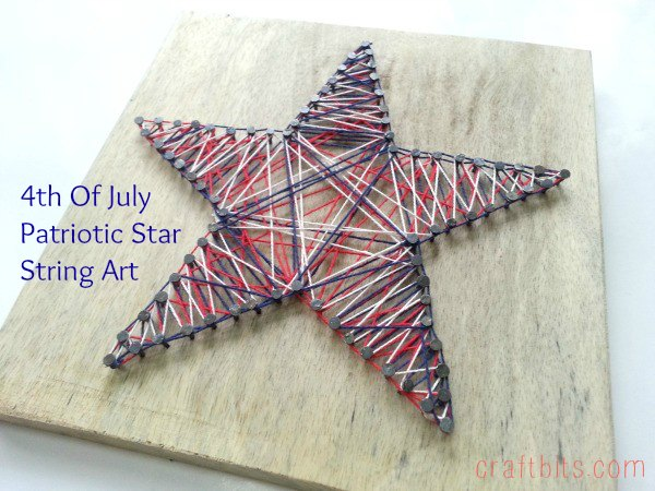 Make a 4th of july star string art holiday crafts craftbits prinsesfo Gallery