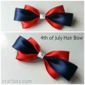 Make A 4th of July Inspired Hair Bow