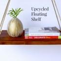 Upcycled Floating Shelf