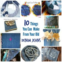 10 Things You Can Make From Your Old Denim Jeans