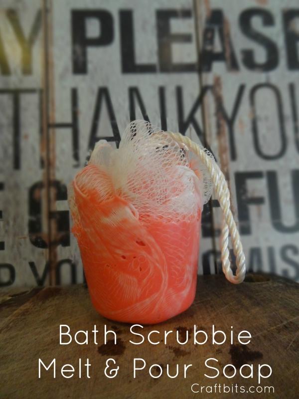 How to Make A Bath Scrubbie Soap