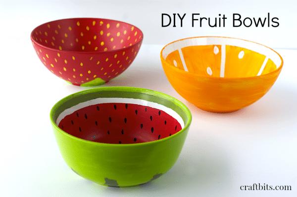 Diy Painted Fruit Bowls Home Crafts Craftbits Com
