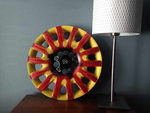 Upcycled Hubcap
