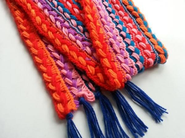 Crochet a Braided Scarf (Broomstick or Cardboard)