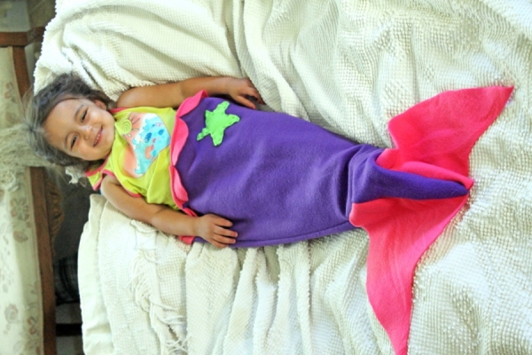 Diy Mermaid Tail Blanket Craftbits Com