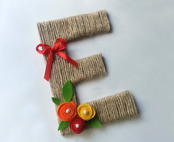Make A Fall Inspired Letter Decor