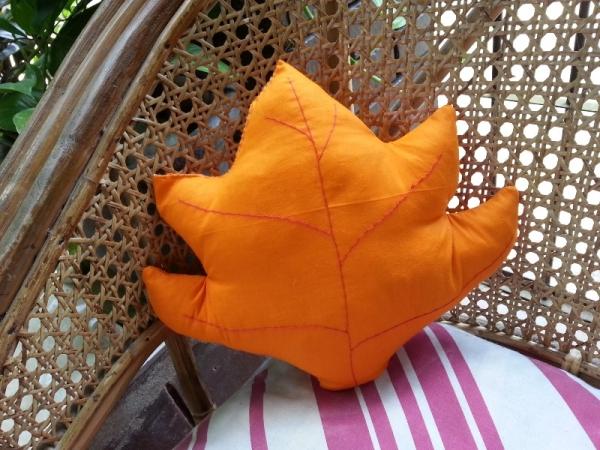 Make a Fall Leaf Pillow