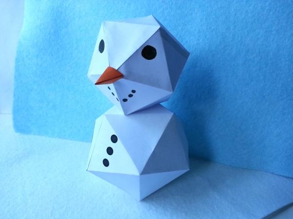 Make A Paper Snowman