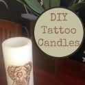 Embellished Tattoo Candles