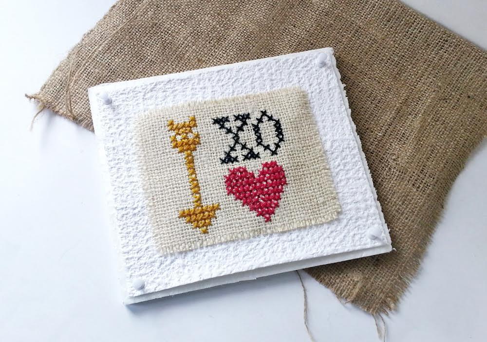 Valentine's Day Hearts XO Cross Stitch
