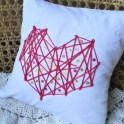 DIY String Heart Pillow Cover
