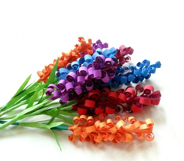 diy origami paper hyacinth flowers