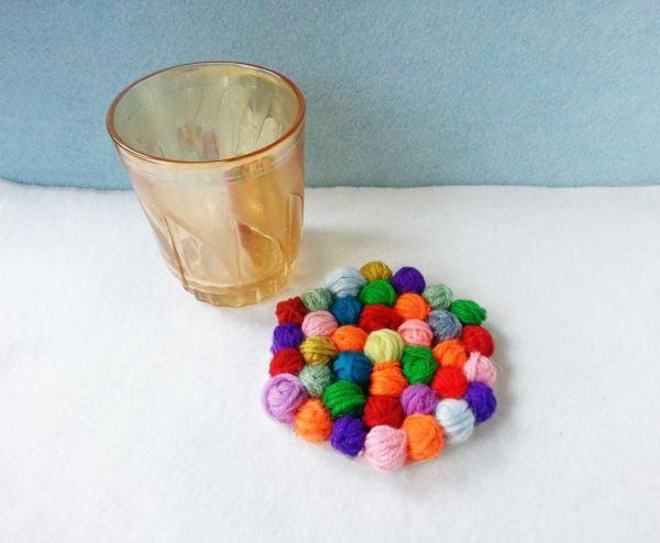 felt-ball-coaster-wool